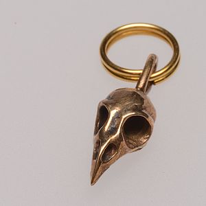 Raven Skull Charm For Cat Collars - cats