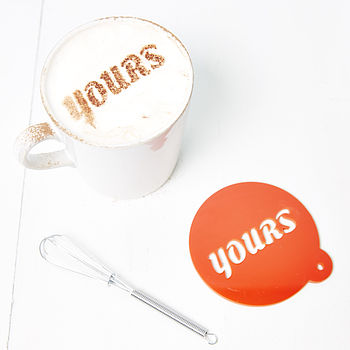 'Yours' And 'Mine' Coffee Stencil Set
