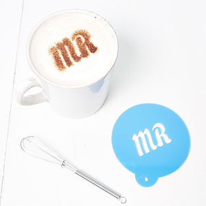 Personalised Coffee Stencil For Him - teas, coffees & infusions