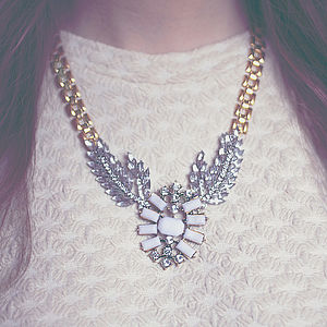 Vintage Style Statement Jewel Necklace - statement necklaces
