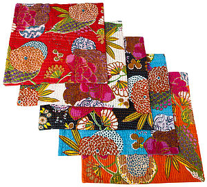 Set Of Two Tropical Kantha Cushion Covers - sale by category