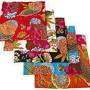 Set Of Two Topical Kantha Cushion Covers