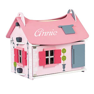 Wooden Dolls House Personalised