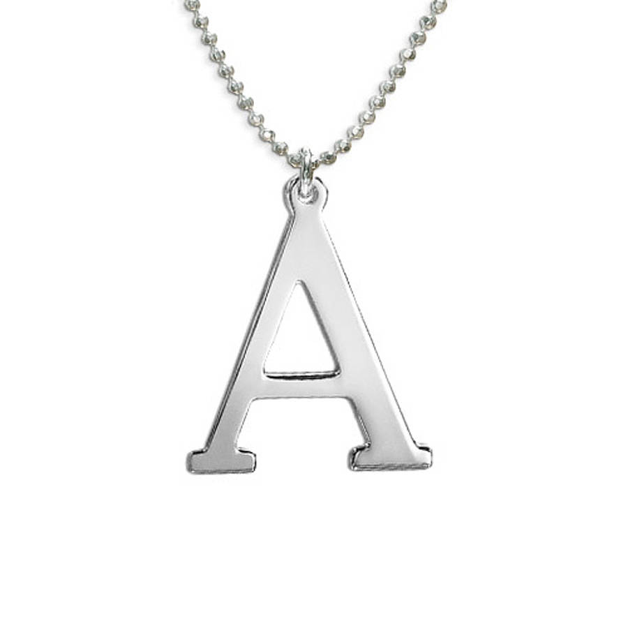 capital letter necklace by anna lou of london With capital letter necklace