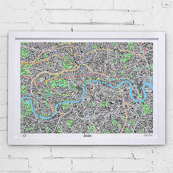 White Frame - London Art Print