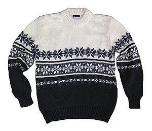 Men's Moritz Hand Knitted Snowflake Jumper - men's fashion