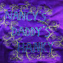 Father's Day Embroidered Art Hanky