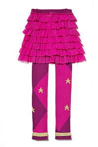 Gold Star Footless Tights With Tutu