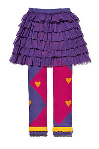 Heart Footless Tights With Tutu - skirts