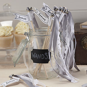 Vintage Style Silver Wedding Wands