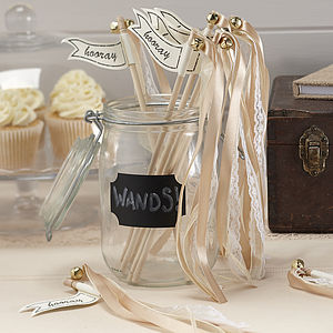 Vintage Style Gold Wedding Wands - table decorations