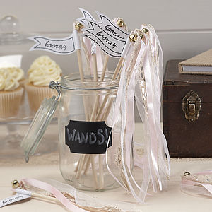 Vintage Style Light Pink Wedding Wands