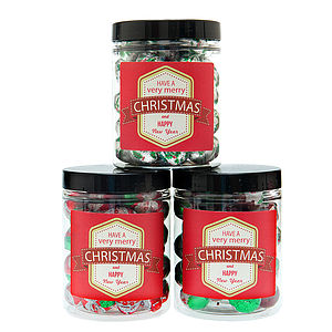 Two Jars Of Festive Chocolates