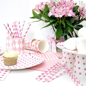 Pink Hen Party Tableware Set - decoration