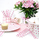 Pink Hen Party Tableware Set