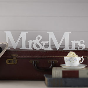 Mr And Mrs Wooden Wedding Sign - decorative letters
