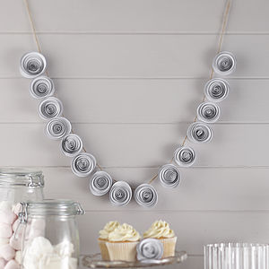 White Paper Flower Garland Wedding Decoration