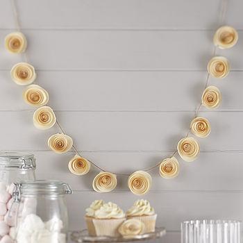 Ivory Paper Flower Garland Wedding Decoration