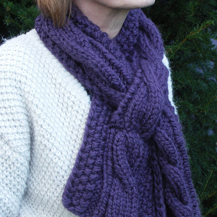Knitting Patterns For Scarves On Pinterest : Chunky knit scarf pinterest crafts