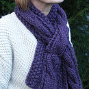 Chunky Hand Knit Scarf