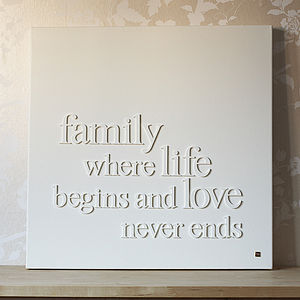 Personalised 'Family Love' Canvas
