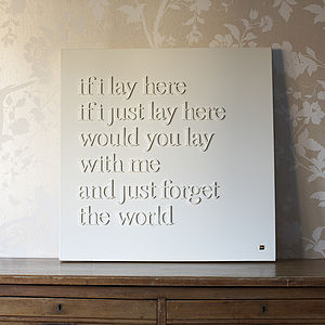 Personalised 'If I Lay Here' Canvas - paintings & canvases