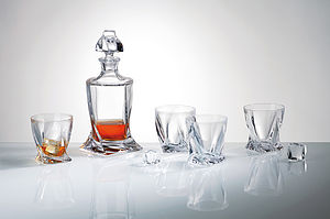 Personalised Twist Whisky Crystal Set - view all