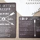 Chalkboard And Arrow Wedding Stationery