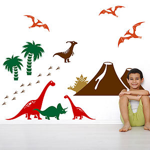 Dinosaur Wall Sticker Pack - bedroom