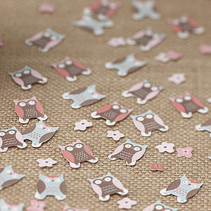 Patchwork Owl Table Party Confetti - confetti, petals & sparklers