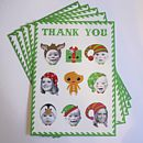 Personalised Christmas Thank You Postcards