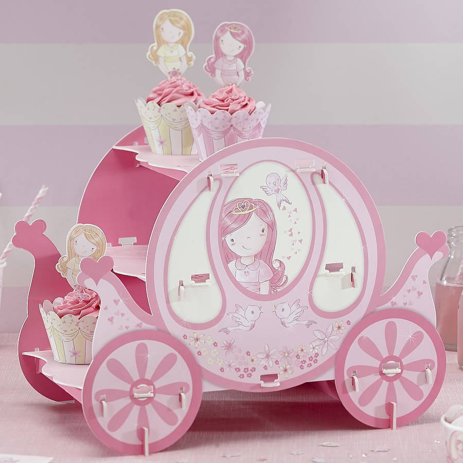 Pink Princess Party Carriage Cake Stand By Ginger Ray