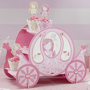 Pink Princess Party Carriage Cake Stand