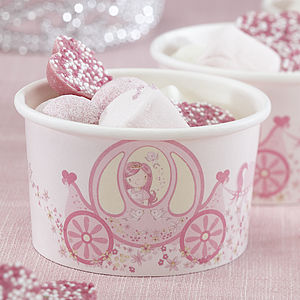 Princess Party Treat / Ice Cream Treat Tubs - picnicware