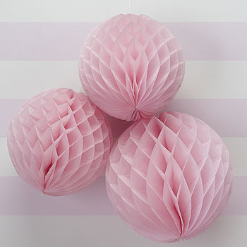 Pink Honeycomb Balls Hanging Decorations