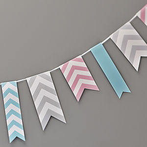 Chevron Bunting Hanging Party Decoration - bunting & garlands