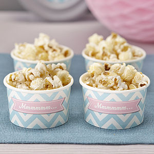 Chevron Treat / Ice Cream Party Tub Bowls - children's parties