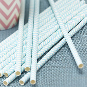 Chevron Party Paper Straws