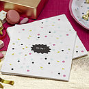 Confetti Dots Party Paper Napkins