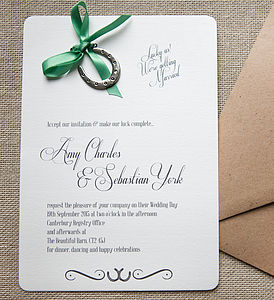 'Lucky Us' D.I.Y Invitation Pack - invitations