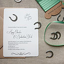 'Lucky Us' D.I.Y Invitation Pack