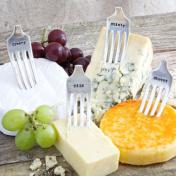 Silver Plated Vintage Cheese Fork Markers