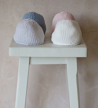 New Baby Cotton Knitted Hat Cream