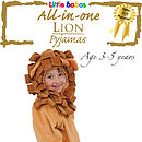Children's Lion Onesie Fancy Dress Costume