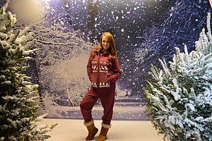 Christmas Glow In The Dark Hand Printed Onesie - women's sale
