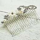 Large Pearl Flower Hair Comb