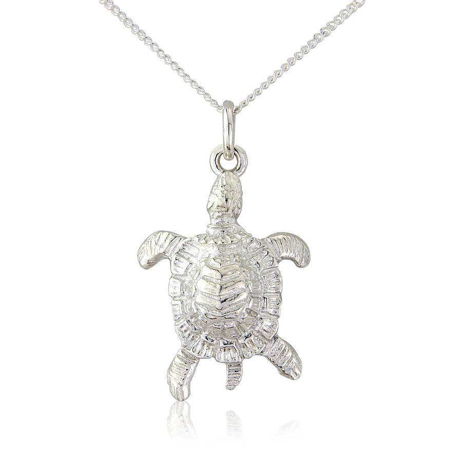 Sea turtle pendantnecklace by argent of london notonthehighstreet sea turtle pendantnecklace aloadofball Image collections
