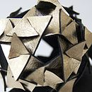 Metallic Leather Origami Triangle