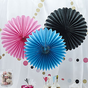 Tissue Party Wall Fan Hanging Decorations - bunting & garlands