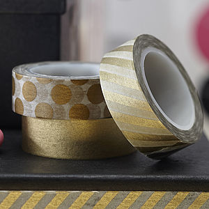 Metallic Gold Washi Tape Kit